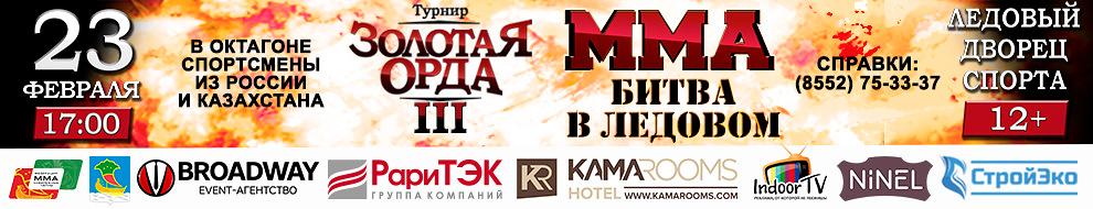 Бойцовский турнир по правилам ММА в Набережных Челнах!